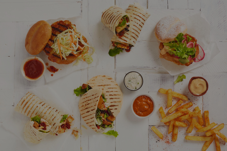 Burgers, Pitas, Wraps