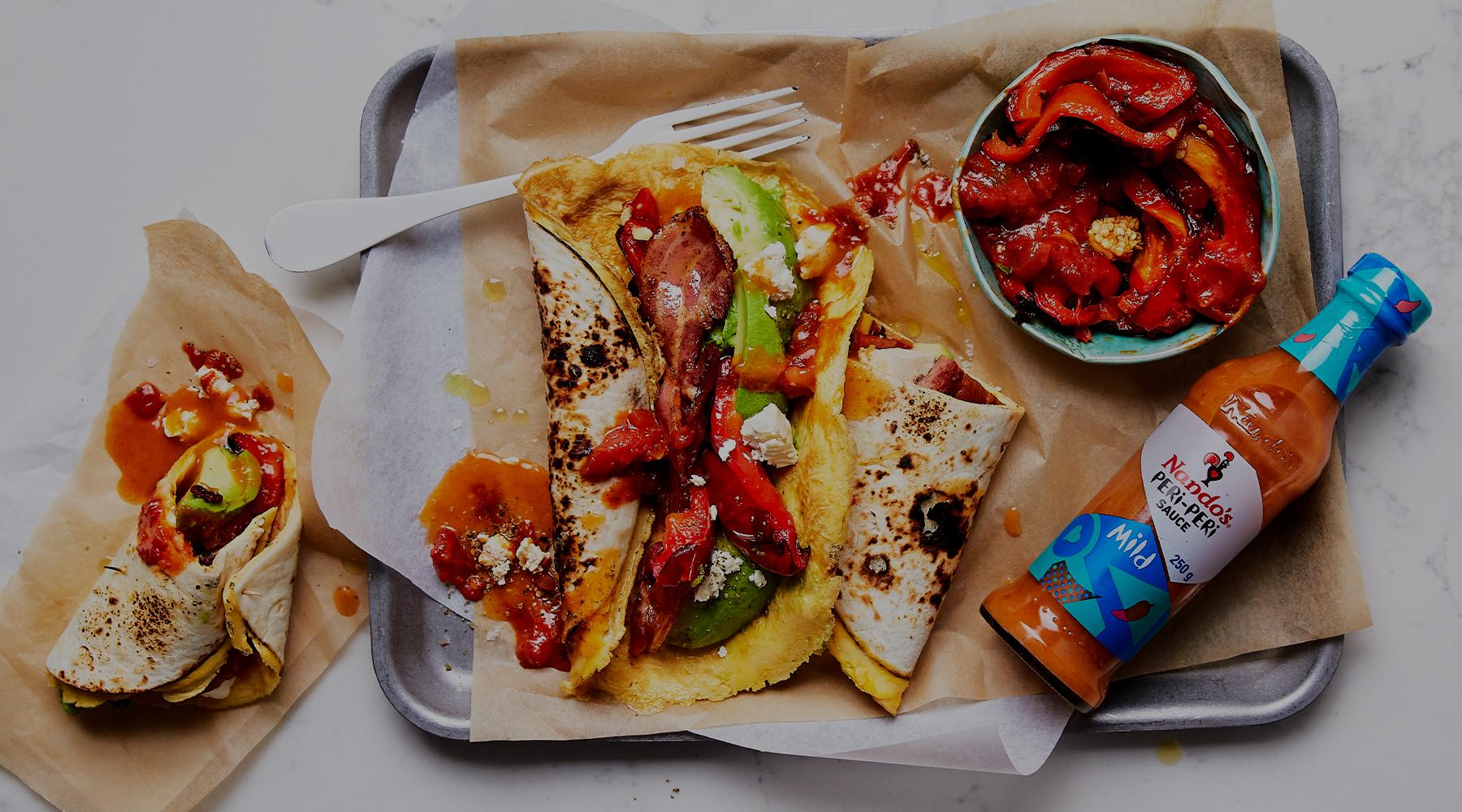Cheesy Omelette Burrito