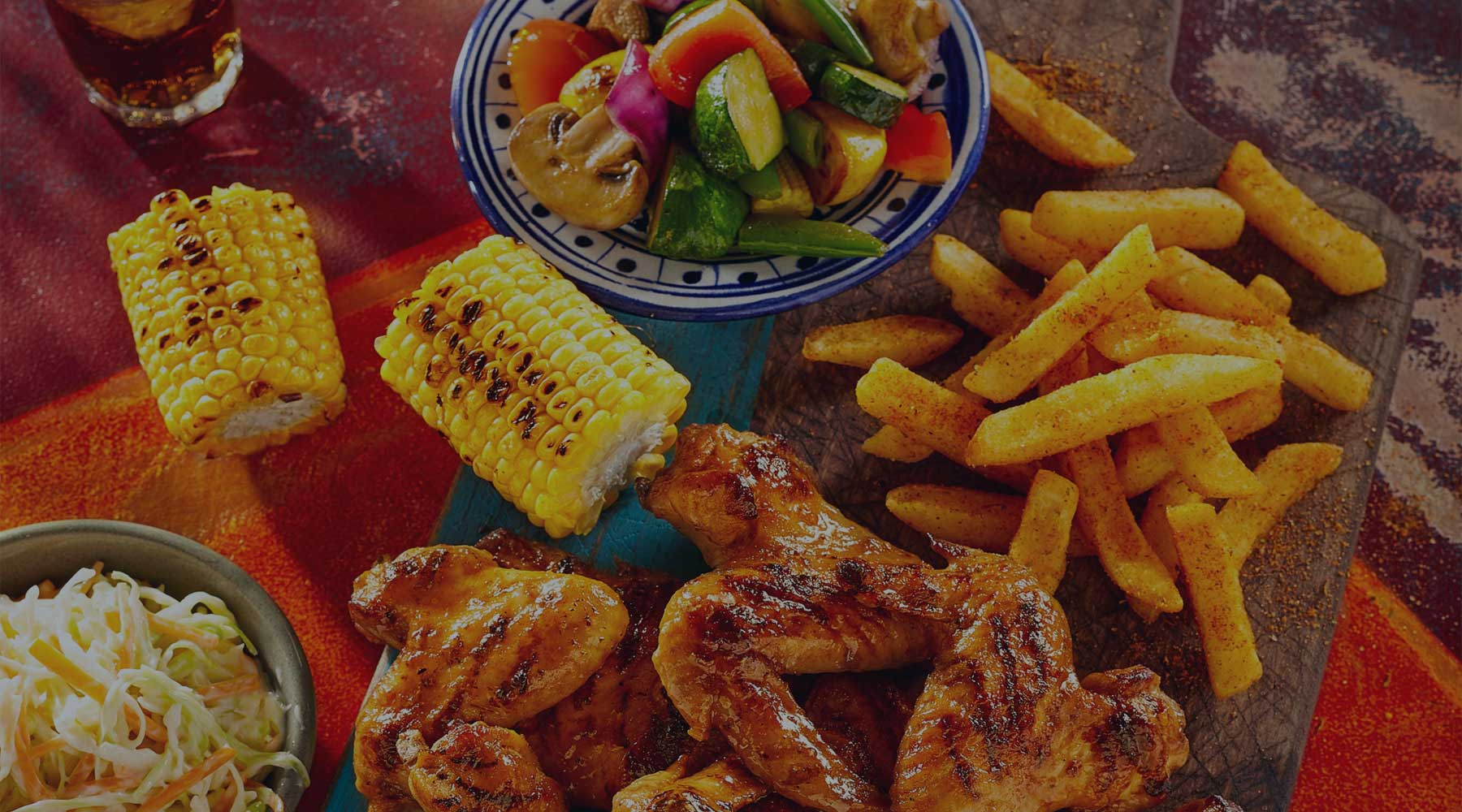Eating at Nando's