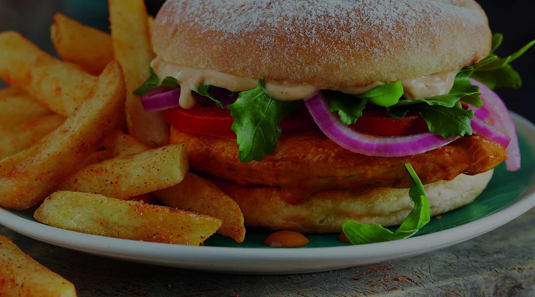 Burgers, Pitas & Wraps