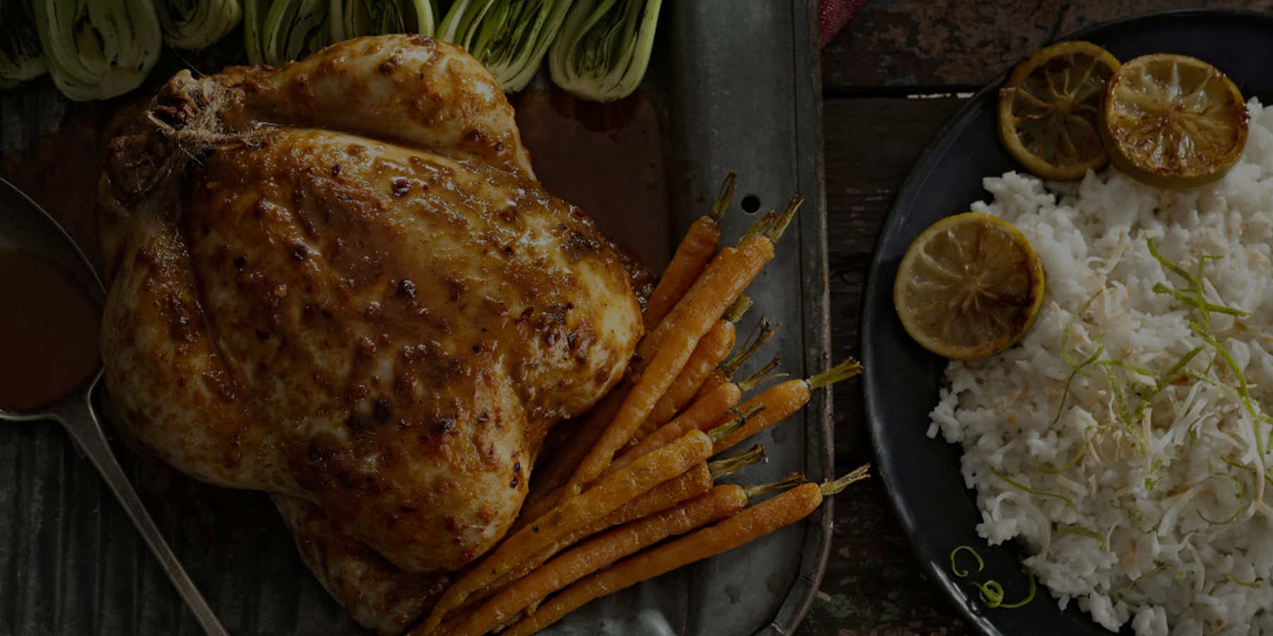 PERi-PERi roast chicken with coconut and lime rice